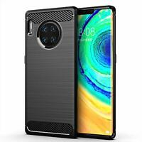 For Huawei Mate 30 Pro Case Carbon Fibre Gel Cover Ultra Slim Shockproof