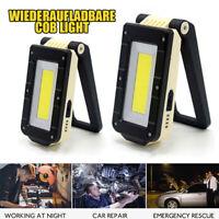 10W COB LED Arbeitsleuchte Inspektionsleuchte Magnetisch USB Akku Taschenlampe