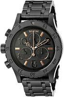 Nixon A404-957-00 38-20 Chronograph 38mm All Black / Rose Gold A404957