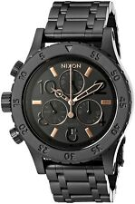 Nixon A404-957-00 38-20 Chronograph 38mm All Black / Rose Gold A404957