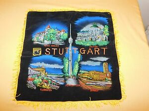 "VINTAGE  17"" X 17"" STUTTGART GERMANY  11TH ARMORED CAVALRY US ARMY   PILLOW CASE"