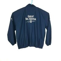 Vtg Callaway Great Big Bertha II Golf Sport  Windbreaker Zip Jacket Size XL Blue