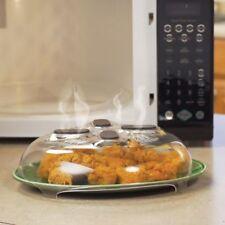 Microwave Plate Hover Anti-Splash Cover Food Splatter Guard Magnetic Steam Vents