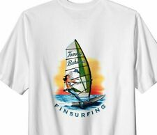 $60 Tommy Bahama Men's White Fin Surfing WindSurfing T Shirt T-shirt Xxxl 3Xl