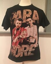 PARAMORE Hayley Williams Group T Shirt Black Distressed Band Pop Punk Medium