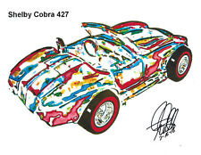 Hot Wheels Shelby Cobra 427 Ford Car Racing Print Poster Wall Art 8.5x11