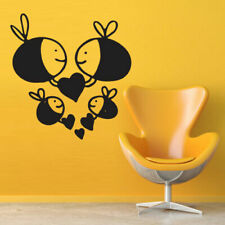 Wall Decal Sticker Vinyl Decor Bee Wasp Insect HeLove Family Bedroom M989