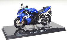 YAMAHA yzf-r1 Azul Escala 1:24 modelo de motocicleta de Atlas die-cast
