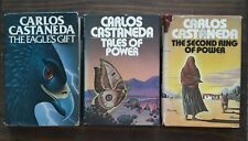 Carlos Castaneda Lot 3 The Eagle's Gift (1st Ed) Tales of Power The 2nd Ring