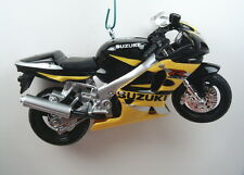 Yellow Black Suzuki GSXR 600 Motorcycle Diecast Christmas Tree Ornament