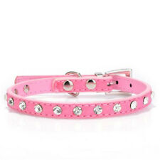 Diamond Crystal Leather Dog Collar Small Dogs Puppy Pet Cat Dog Collars Necklace