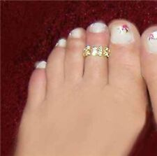 XXS small stretch   2 Row Crystal Rhinestone Toe Ring