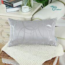 """CaliTime Throw Pillows Shells Cushion Covers Modern Circles Rings Sofa 12"""" x 20"""""""