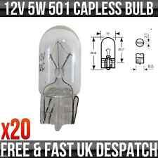 Capless Side & Tail Light Bulb 12V 5W W2.1/9.5D 10mm BO501CL *Pack of 20*