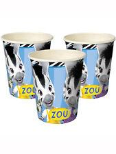 Zou Zebra Party 9 Oz Paper Cups X 8 Childrens Birthday Party