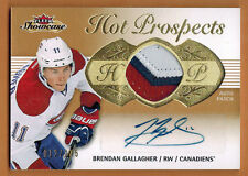 2013-14 ,FLEER ,SHOWCASE , BRENDAN GALLAGHER ,HOT PROSPECTS , AUTO ,PATCH ,/175