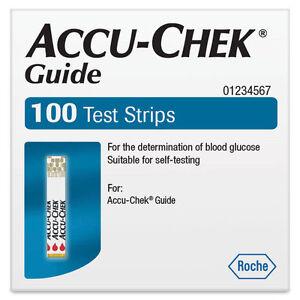 Accu Chek Guide Test Strips 100 Expiry  24 APRIL 2022