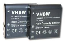 2St. original vhbw® AKKU für 950mAh für JAY-TECH Videoshot DDV-R8