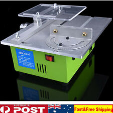 Mini Table Saw with Gravity-Rise Wheeled Stand Portable Table Saw Crafts Cutting