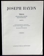 Partition / Score Haydn Trios Band II Violine / violon Henle Verlag München NM