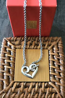 Pre-owned🧡retired James Avery .925 Sterling Silver Heart Toggle Necklace
