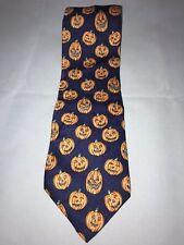 Trumbull & Rhoades Halloween Jack O Lantern Pumpkin 100% Silk Classic Neck Tie