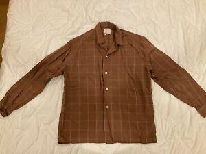 Vintage REGENCY GUILD Loop-Collar Shadow-Plaid Shirt