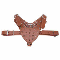 26-34'' Spiked Studded Leather Dog Harness For Bulldog Pitbull Mastiff Terrier