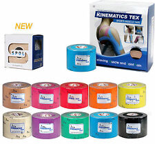 SPOL 12 Roll 5CMx5M Kinesiology Sports Therapeutic Elastic Tape Muscle strapping