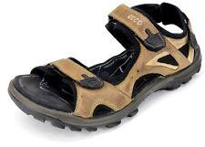 ECCO Men's Receptor Brown Leather Adjustable Strap Sport Sandals Size EUR 45
