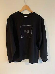 Y-3 Y3 Adidas Black Square Label Crew Sweat XL BNWT RRP$300+