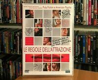 LE REGOLE DELL'ATTRAZIONE (2002) - DVD COME NUOVO ROGER AVERY BRET EASTON ELLIS