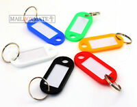 Key Tags Plastic Key Rings ID Tags Name Label Key Fob Tag - Choose Your Colour