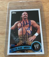 JAKE THE SNAKE ROBERTS Signed Autograph WWF WWE 2011 Topps Wrestling Card Auto.
