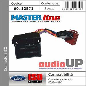 CONNETTORE RADIO ORIGINALE->ISO ALTOPARLANTI+ALIMENT FORD KUGA DAL 2008 AL 2012.