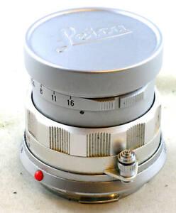 Vintage Rigid Bayonet Mount Leica 50mm f/2 SUMMICRON w/Lens Cap