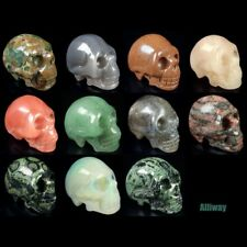 """2 """"similares tallado cráneo Estatua Natural Surtidos De Piedras Preciosas De Cristal curativo"""