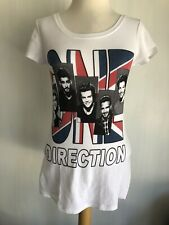 ONE DIRECTION 1D Official British Flag Union Jack Scoop Neck T-Shirt Size Large