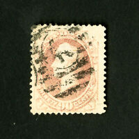 US Stamps # 166 VF Large Stamp Pale Red Shade Catalog Value $250.00