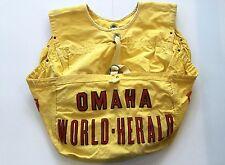 Vintage Omaha World Herald Paper Boy Bag - Yellow