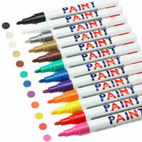 12 Paint Pen Marker Waterproof Permanent Car Tire Lettering Rubber Rock Glass