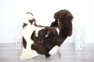 Real Natural English SHEEPSKIN RUG Fur Throw Genuine Sheep Skin White #1sheb4