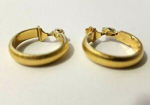 Monet Clip Earrings Hoops