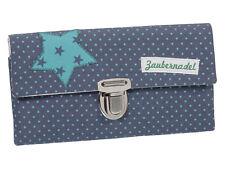 Damen Geldbörse Portemonnaie Stoff Blau Türkis Punkte Handmade Dawanda Unikat