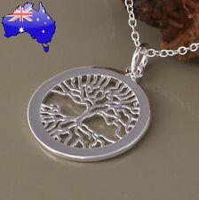 Stunning 925 Sterling Silver Tree of Life Pendant Necklace Womens Jewellery Gift
