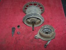 76 yamaha yz 100 rear hub rear wheel drum brake hub axle adjusters tensioners