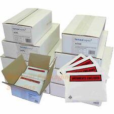 No-Name Packing List Envelopes Polythene A7 Plain Pack 1000