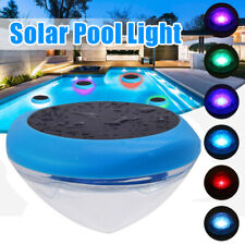 Solar Powered Colorful LED Floating Pond Light Swimming Pool Waterproof Garden