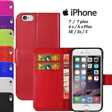 HIGH QUALITY PU Leather FLIP BOOK WALLET CASE COVER For Apple iPhones