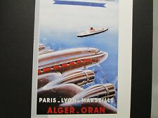 Aeriens  Airline  Travel Poster Alger Oran  From American Express Travel Office